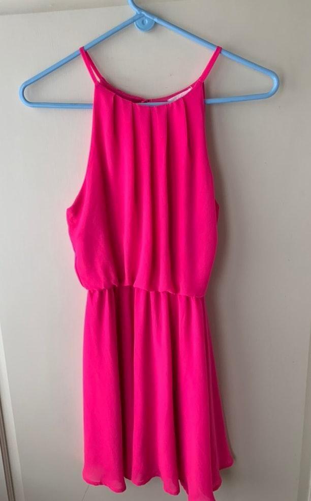 Lush Clothing Pink Dress Curtsy
