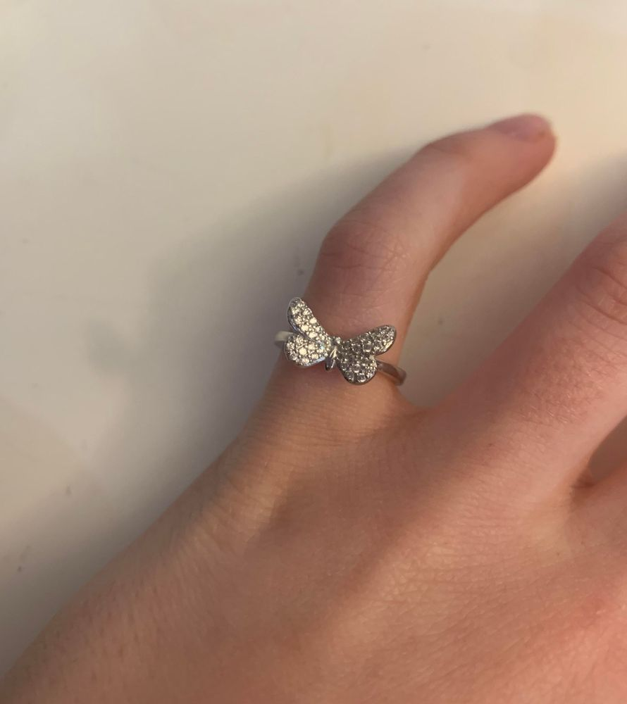 dainty silver ring ring for girl Silver butterfly ring butterfly gift Hill Tribe silver butterfly ring ring for daughter ring for bff