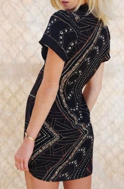 STONE COLD FOX Lure Dress Black Georgetown Size 2 Orig $265 NEW