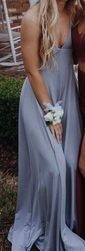 Urban Outfitters Light Gray Wide Leg Jumpsuit