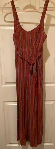 American Eagle Outfitters Red and Blue Striped Jumpsuit