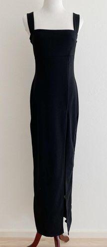 Nasty Gal Women's Black Slit Maxi Dress Large