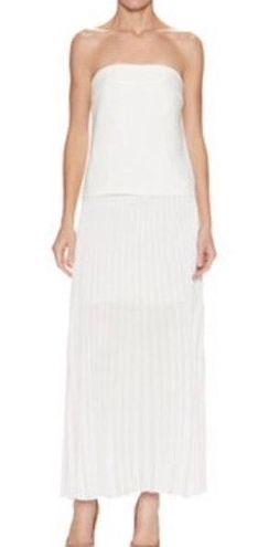 A.L.C. White Strapless Crepe Maxi Dress