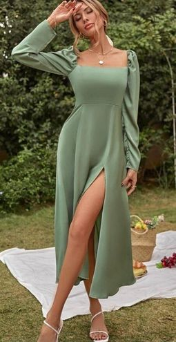 SheIn Sage Midi Dress