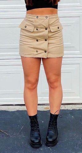 Copper Closet Tan skirt