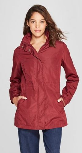 A New Day Red Rain Coat