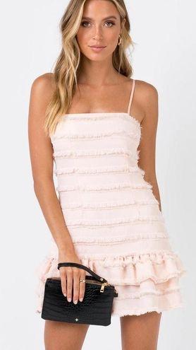 Princess Polly Molina Mini Dress Blush New