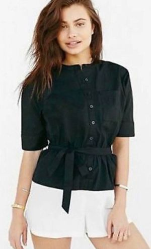 A.L.C.  & UO S Small Adeliande Romper - Black, White, Urban Outfitters, Shorts, MSRP $79