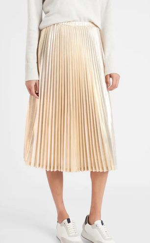 Boutique Pleated Satin Skirt