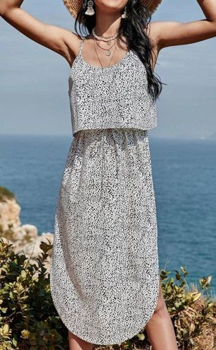 SheIn Cinch Waist Cami Dress