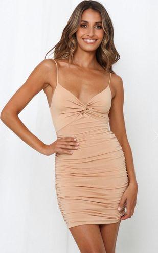 Hello Molly Nude Bodycon Dress