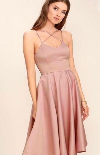 Lulus Blush Pink Midi Dress
