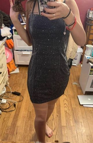 Windsor Black Sparkly Bodycon Dress