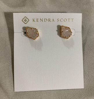 Silver Details about  /New Kendra Scott Tessa Stud Earrings In Rose Quartz
