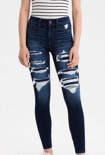American Eagle Hi Rise Jeans Distressed