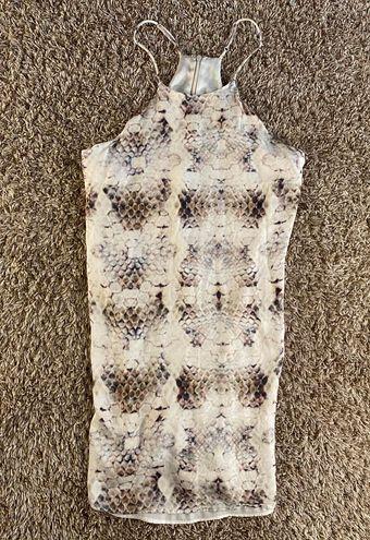Lavender Brown Snake Print Dress