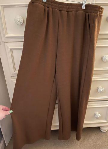 SheIn Brown Wide Leg Sweatpants