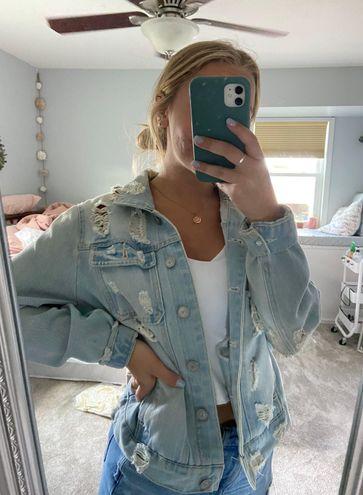 Highway Jeans Light Wash Distressed Denim Jacket