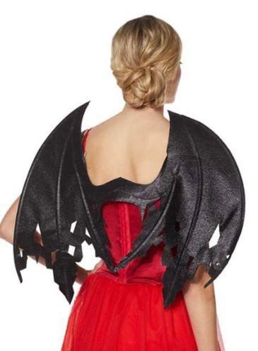 Black Glitter Devil Wings
