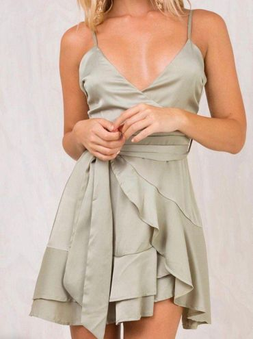 Princess Polly       Ruffle Wrap Mini Dress
