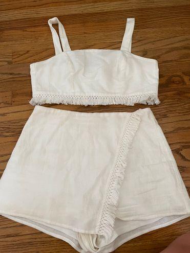 Boutique Summer White Matching Set