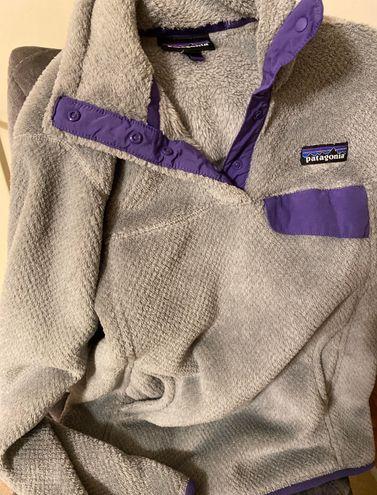 Patagonia Gray And Purple Synchilla