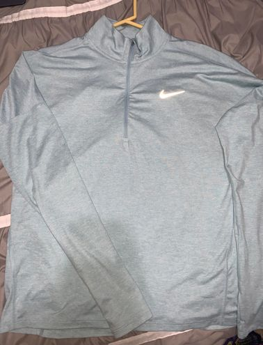 Nike Light Blue Running Quarter Zip