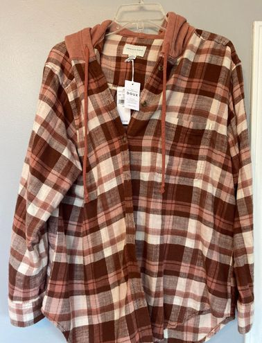 American Eagle Outfitters Flannel Hoodie