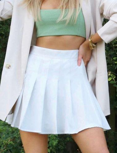 SheIn Zipper Side Solid Skater Skirt