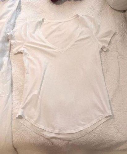 Lululemon White  Vneck Shirt