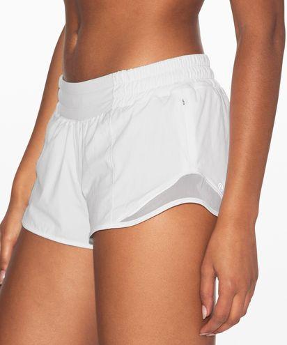"""Lululemon White Hotty Hot Shorts 2.5"""""""