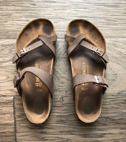 Birkenstock Brown Toe Strap Birks
