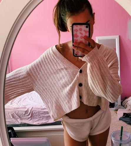 American Eagle Outfitters cropped sweater
