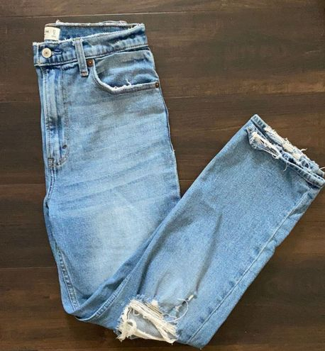 Abercrombie & Fitch   Ankle Straight Ultra High Rise Jeans