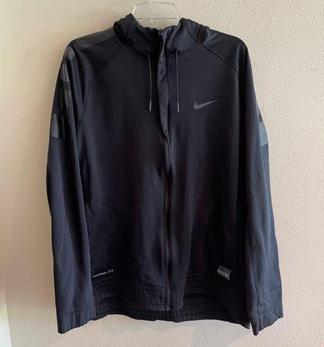 Nike Therma-Fit Black Full Zip Athletic Sweatshirt
