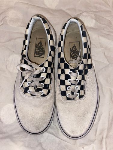 Vans Checkered White Size 7 - $19 (62% Off Retail) - From Claire