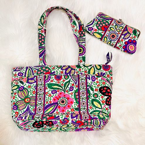 Vera Bradley Medium Bag & Wallet Viva La Vera Set