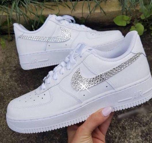 Nike Custom Sparkley Air Force 1's