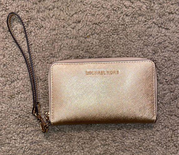 Michael Kors Gold Wristlet Wallet