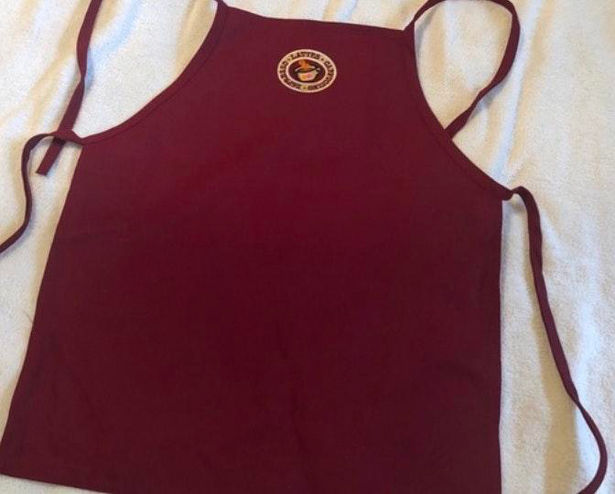 Maroon / Red Vintage Dunkin Donuts Apron