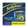 Sellotape 18mm x 66m Golden Tape (Pack of 16) - 1443252
