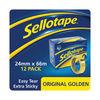 Sellotape Original Golden Tape 24mmx66m (Pack of 12) 1443268