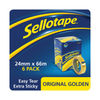 Sellotape Original Golden 24mm x 66m Tapes, Pack of 6 - 2028242