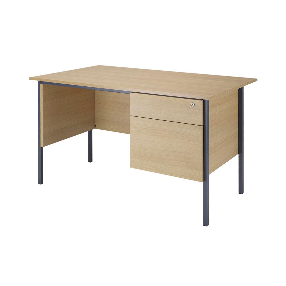 Serrion 1200mm Ferrera Oak 2 Drawer Pedestal 4 Leg Desk