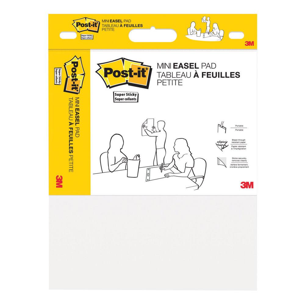 Post-It Super Sticky Mini Meeting Chart 381mm x 457mm White 577SS