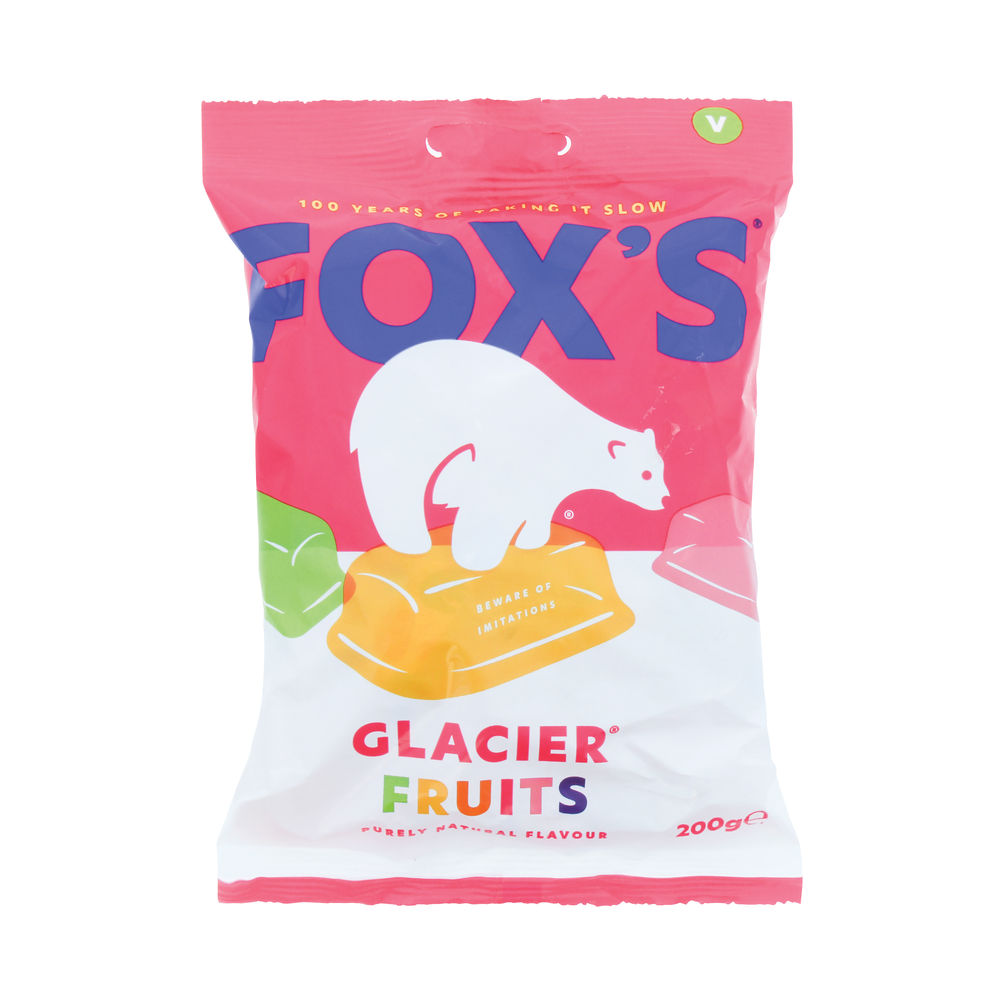 Fox's Glacier Fruits Boiled Sweets 200g, Pack of 12 - 0401003