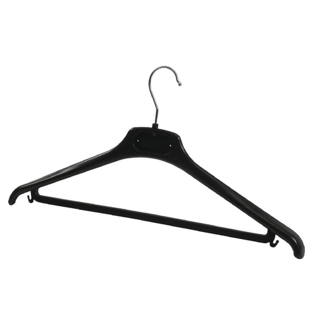 Alba Plastic Coat Hanger Black