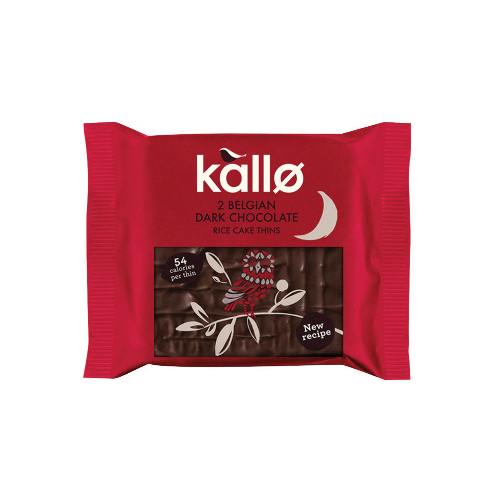 Kallo Dark Chocolate Rice Cake Thins, Pack of 21 - 0401167