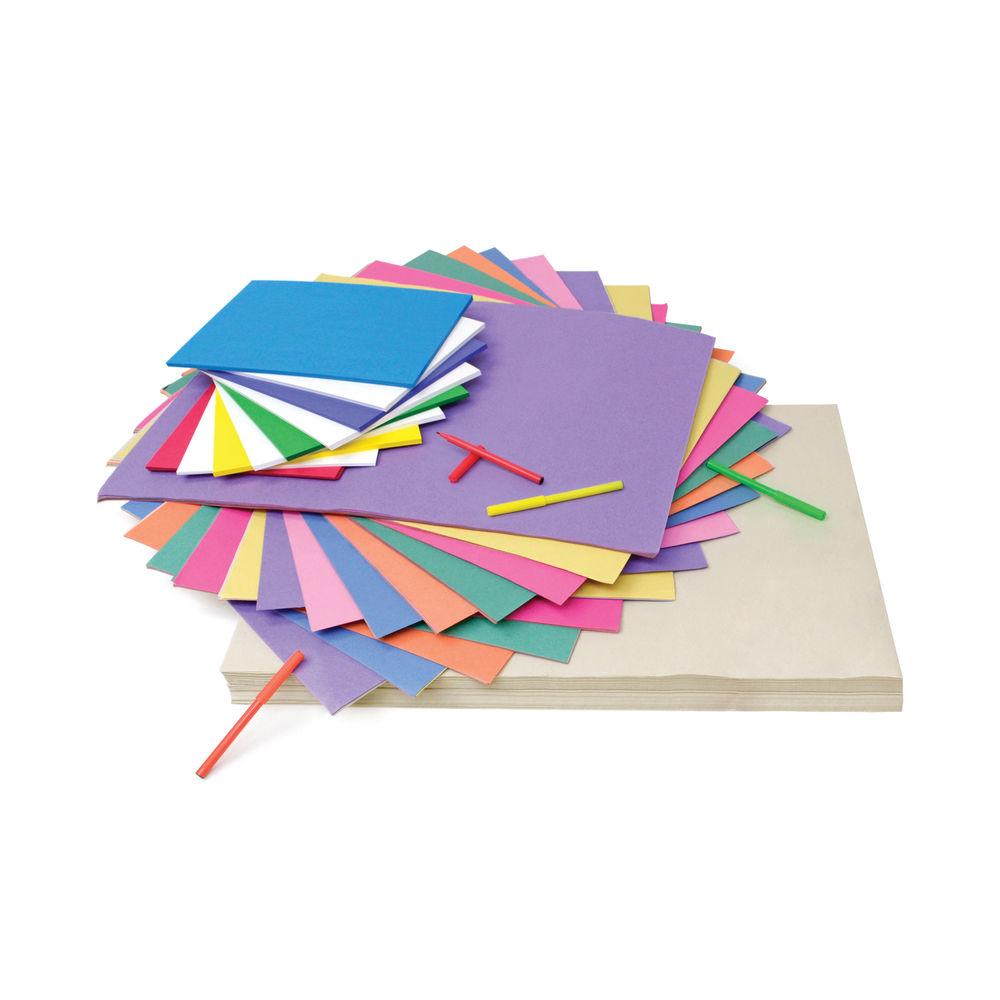 A2/A4 Newsprint Sugar Paper and Card (Pack of 1200) D98008CI101