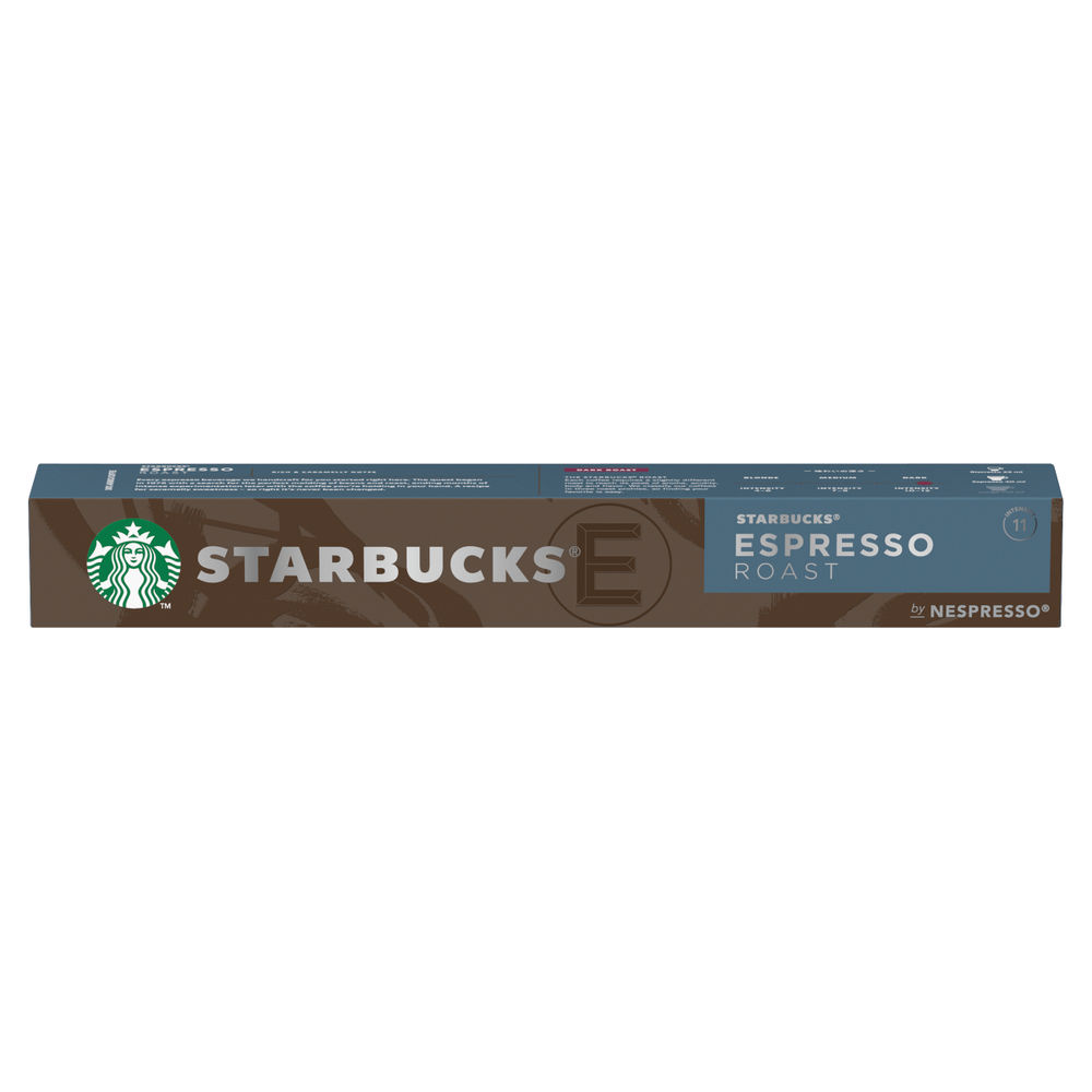 Nespresso Starbucks Espresso Roast Coffee Pods (Pack of 10) 12423393